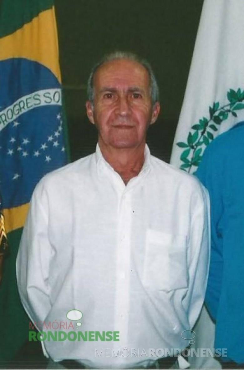 Nelson Belincanta, agropecuarista, ex-suplente de delegado em Marechal Rondon ex-presidente da Guarda-Mirim também de Marechal Cândido Rondon, falecido em 18 de outubro de 2015. Imagem: Acervo da Família - FOTO 9 –