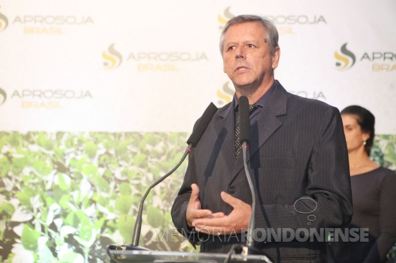Ruralista goiano Bartolomeu Braz Pereira que assumiu a presidência da Aprosoja Brasil, em maio de 2018. Imagem: Acervo Aprosoja Brasil - FOTO 4 -