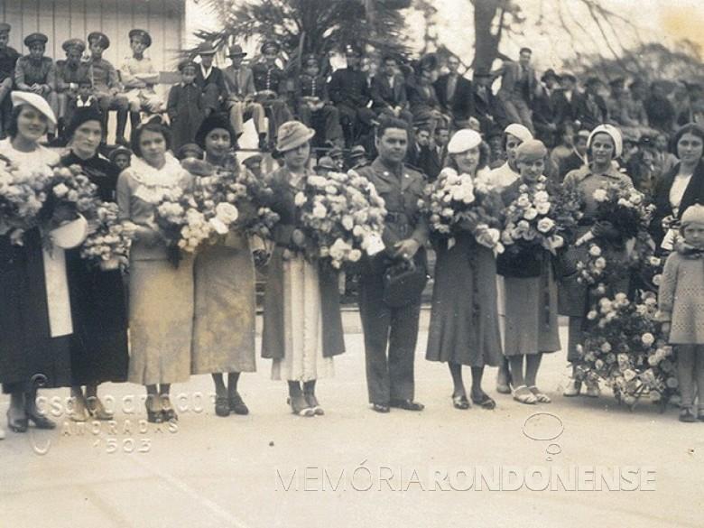 Celebração do primeiro Dia das Mães na cidade de Porto Alegre, em 12 de maio de 1918.  Imagem: Acervo G1