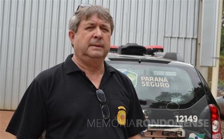 Delegado de Polícia Deoclécio Detros que assumiu a Delegacia de Polícia de Marechal Cândido Rondon e permaneceu no cargo até 28 de abril de 2015. Imagem: Acervo O Presente.  Crédito: Luiz Fernando Cerni - FOTO 6 -