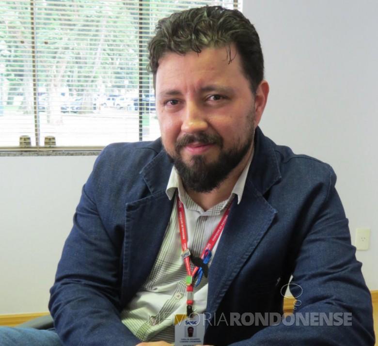 Carlos Eduardo Landins Cremonini que assumiu a gerência executiva do SESC de Marechal Cândido Rondon, em novembro de 2018.  Imagem: Acervo O Presente - FOTO 11 -