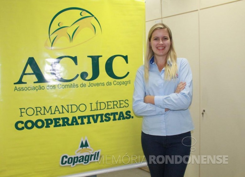 Jovem Vanessa Wommer reeleita presidente da Associação dos Comitês dos Jovens da Coparil (ACJC) para a gestão 2018.  Imagem: Acervo Imprensa - Copagril- FOTO 9 -