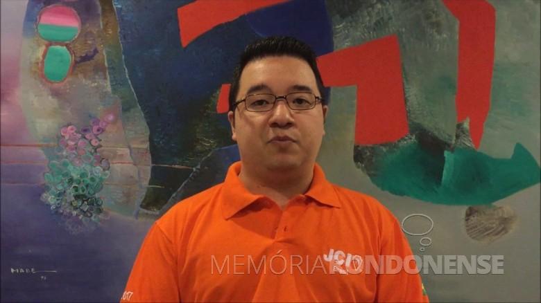 Rafael Jun Mabe que desenvoleu na JCI-Marechal Cândido Rondon,  o curso