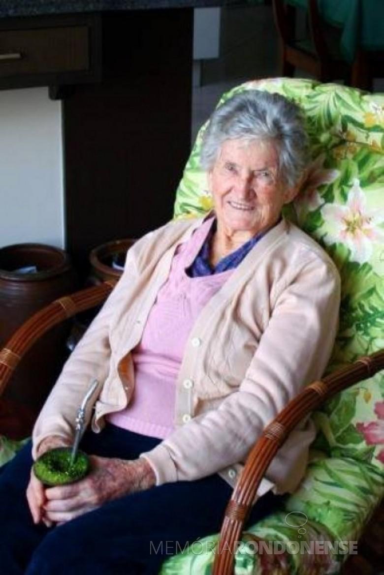 A pioneira rondonense Elsira Lohamnn, falecida em Curitiba,  no dia 20 de junho de 2016. Imagem: Acervo da família - FOTO 4 -