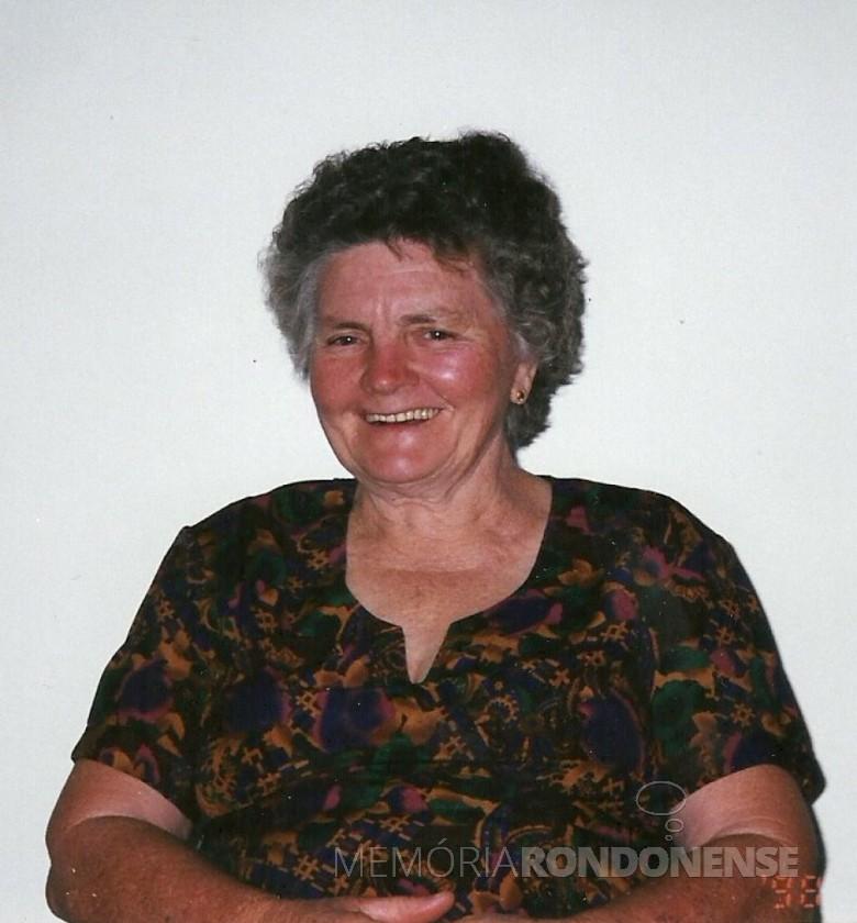 Pioneira Tereza (Grohmann) Römer, falecida em agosto de 2006. Era casada com o pioneiro Ludwig Federico Römer.  Imagem: Acervo de Selma Römer Krack - FOTO 5 -