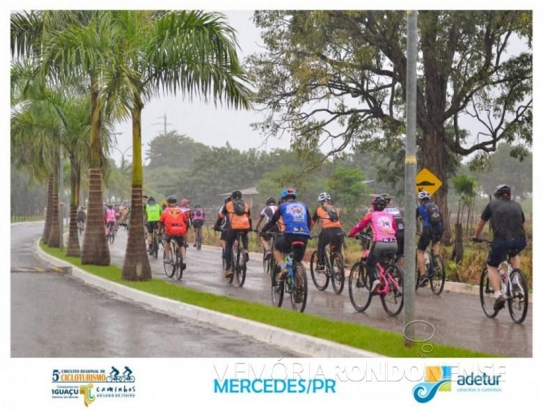 Flagrante da 4ª etapa do Circuito Regional de Cicloturismo, ocorrida no município de Mercedes, em março de 2017.  Imagem: Acervo Adetur - Crédito: Clóvis Froelich - FOTO 14 -