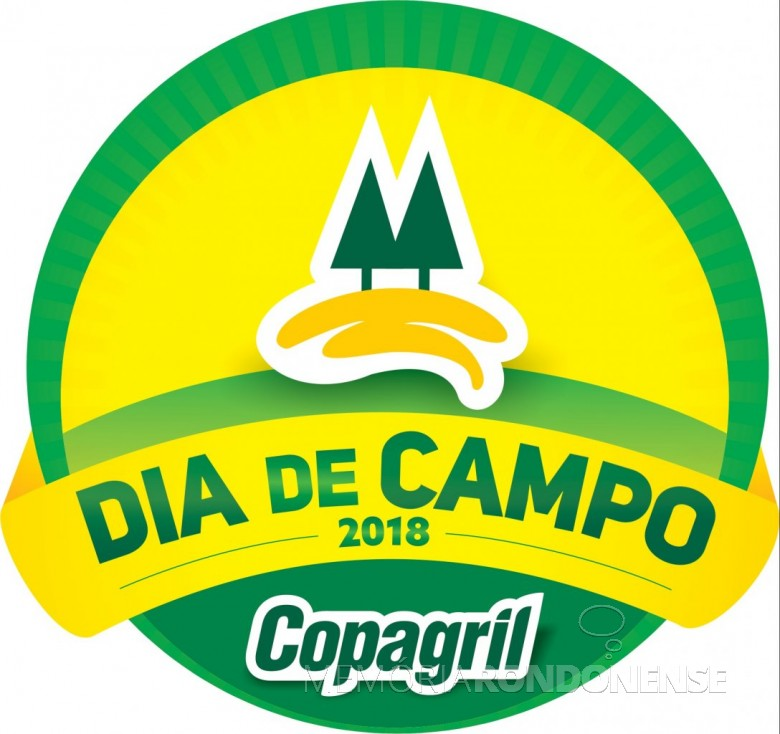 Dístico do Dia de Campo Copagril 2018.  Imagem: Acervo Comunicação Copagril - FOTO 8 -