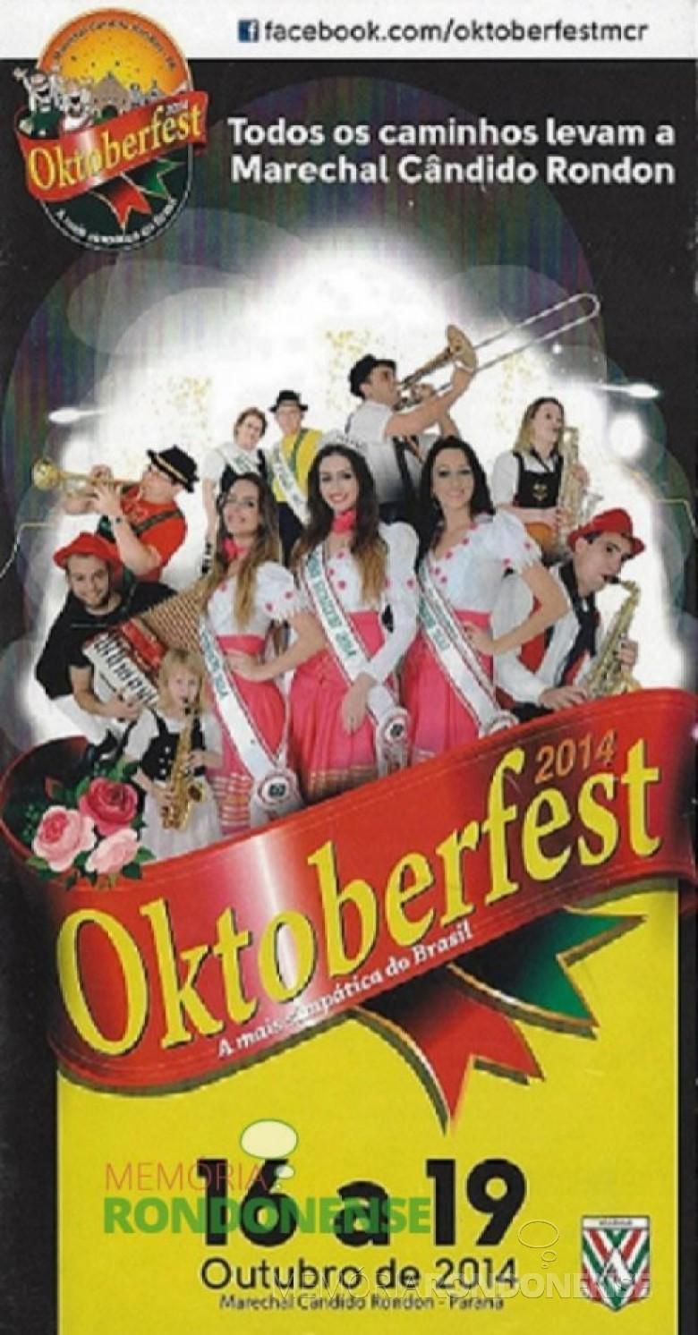 Convite para a 26ª Oktoberfest de Marechal Cândido Rondon. Imagem: Facebook - FOTO 4 -