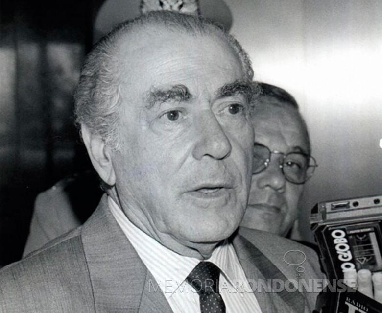 Leonel de Moura Brizola falecido em junho de 2004.  Imagem: Acervo History - FOTO 3 -