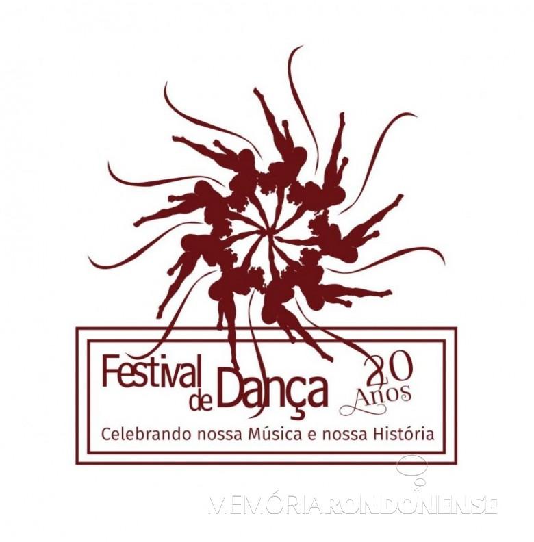 Logomarca do 20º Festival de Dança, do Colégio Luterano Rui Barbosa, que aconteceu no começo de maio de 2018.  Imagem: Acervo do Colégio - FOTO 5 -
