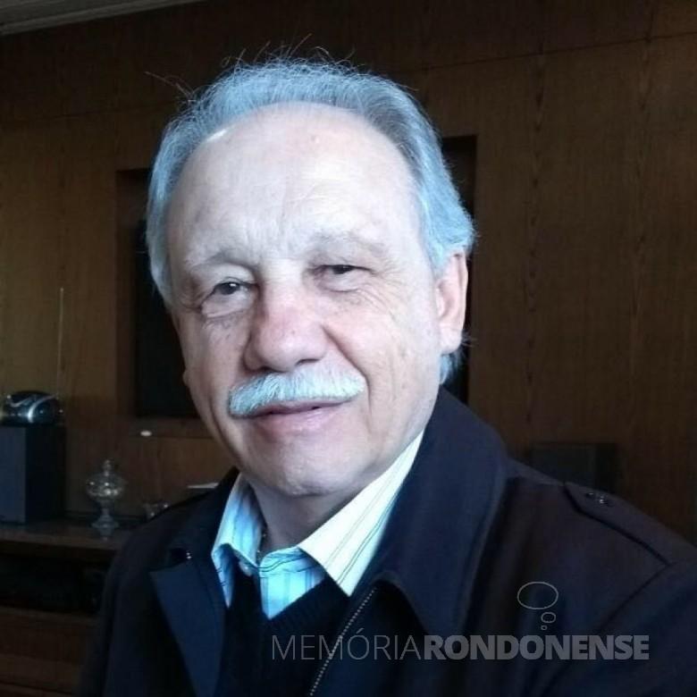 Empresário rondonense Osvino Ricardi, fundador e sócio proprietário da Agrícola Horizonte. Imagem: Acervo Marlise Sulzbach Ricardi - FOTO 2 -