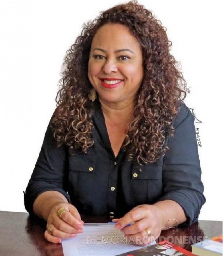 Professora doutora Ivonete Pereira que assumiu a coordenação da Numape/MCR, no campus da Unioeste - Marechal Cândido Rondon.  Imagem: Acervo O Presente - FOTO 9 -
