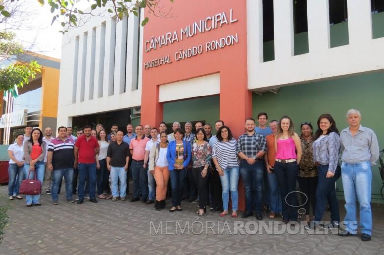 Participantes do treinamento oferecido pelo Programa Interlegis na Câmara Municipal de Marechal Cândido Rondon, em agosto de 2016.  Imagem: Acervo Imprensa CM-MCR Crédito: Cristiano Viteck  - FOTO 5 -