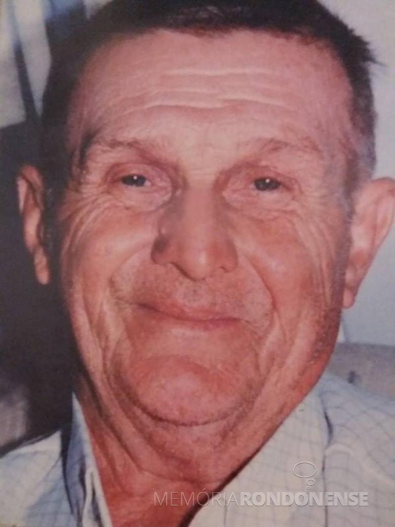 Primeiro morador de Quatro Pontes, Seno José Lang, falecido em junho de 1989.  Imagem: Acervo Família Lang - Quatro Pontes - FOTO 1 - FOTO 2 -