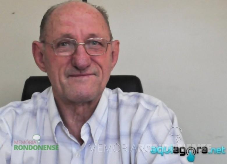Pioneiro Reinart Reschke, empresário do ramo de metalurgia, falecido em 04 de novembro de 2015. Imagem: Acervo AquiAgora - FOTO 15  -