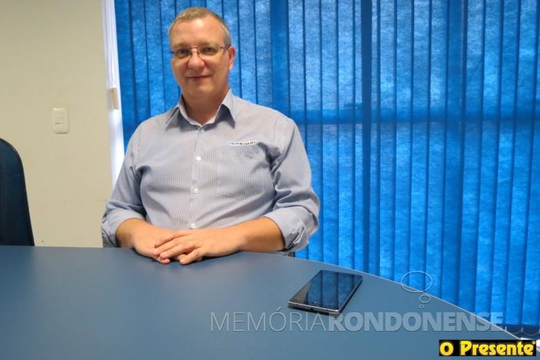Empresário Gerson Froehmer reconduzido a presidência da Acimacar, para o biênio 2018/2019.  Imagem: Acervo O Presente - FOTO 9 -