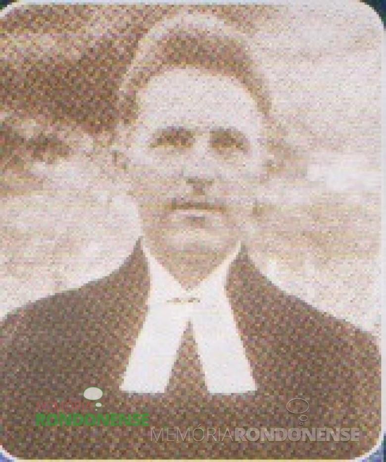 Präses Dr. Friedrich Wüstner, era natural da Alemanha.  Imagem: Acervo IECLB-história - FOTO 3 -