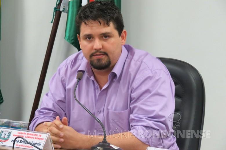 Josoé Pedralli eleito presidente do Diretório do PMDB, de Marechal Cândido Rondon, em 21.10.2017.  Imagem: Acervo Imprensa - CM-MCR - FOTO 6 -