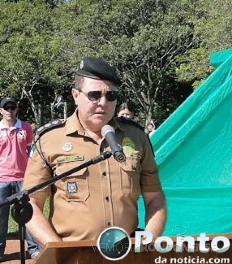 Tenente-coronel  Cesar Leroy Cooper que assmuniu o comando do Batalhão de Polícia de Fronteira, em abril de 2016. Imagem: Acervo Ponto de Notícia - FOTO 6 -