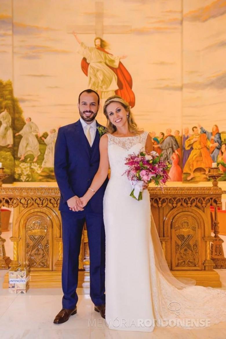 Casamento da rondonense Andressa Gomes e Gabriel Servidão, na Igreja Menino Deus, em Toledo.  Crédito: FotoCity Digital - Marechal Cândido Rondon - FOTO 12 -
