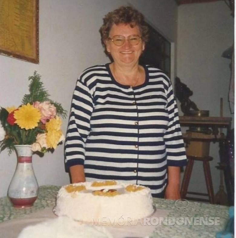 A pioneira Olga (nascida Weimann) Heinrich falecida em 03 de março de 2006. Imagem: Acervo Edela Ledi Heinrich - FOTO 3-