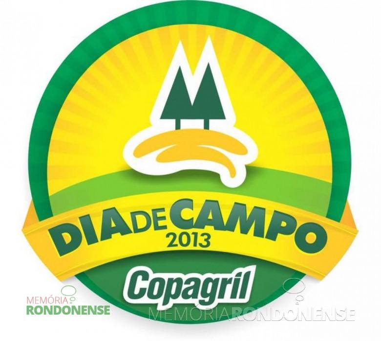 Dístico do Dia de Campo Copagril 2013. Imagem: Acervo Imprensa Copagril - FOTO 1