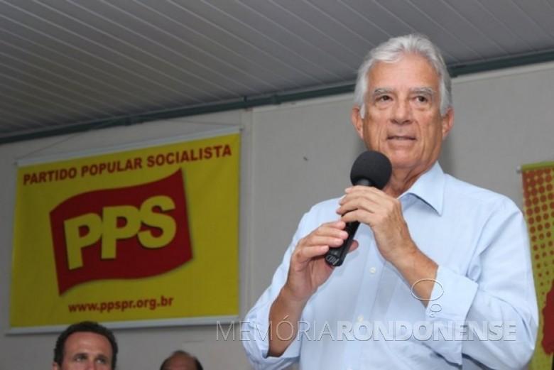 Deputado federal Rubens que esteve em Marechal Cândido Rondon, 08 de julho de 2017.  Imagem: Acervo do parlamentar - FOTO 5 -