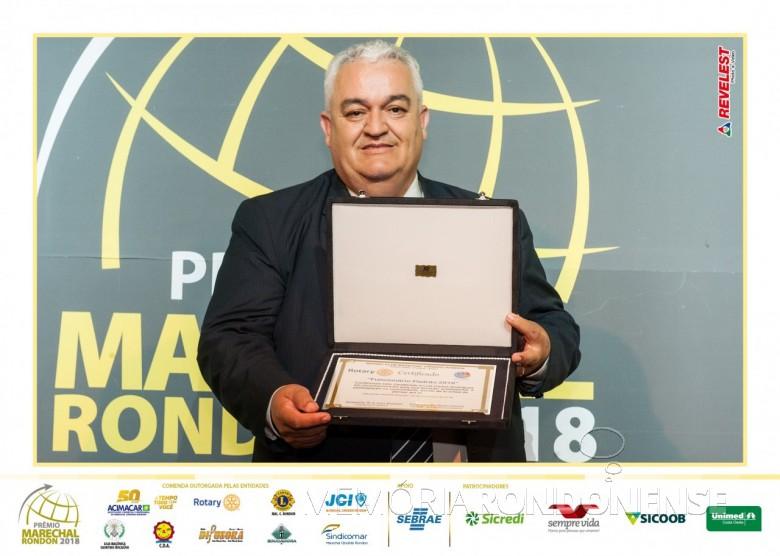 Luiz Carlos Rodrigues - Funcionário Padrão 2018 de Marechal Cândido Rondon. Imagem: Acervo Comunicação Copagril - FOTO 8 -