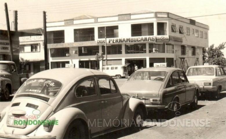 Outra vista inauguração da então filial das Casas Pernambucanas, à Avenida Rio Grande do Sul e Rua Setembro, em 26 de março de 1973. Imagem: Acervo Hilga Schroeder/Mirta Steinmacher – FOTO 3 -