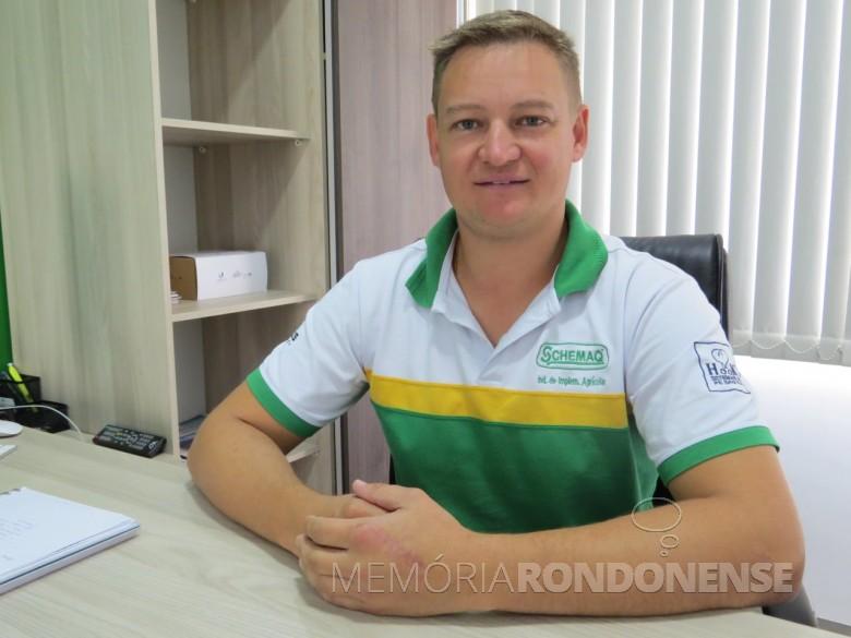 Empresário Marcio Schons eleito presidente da ACIBRA gestão 2018/2020.  Imagem: Acervo O Presente - Crédito: Mirely Weirich - FOTO 4 -