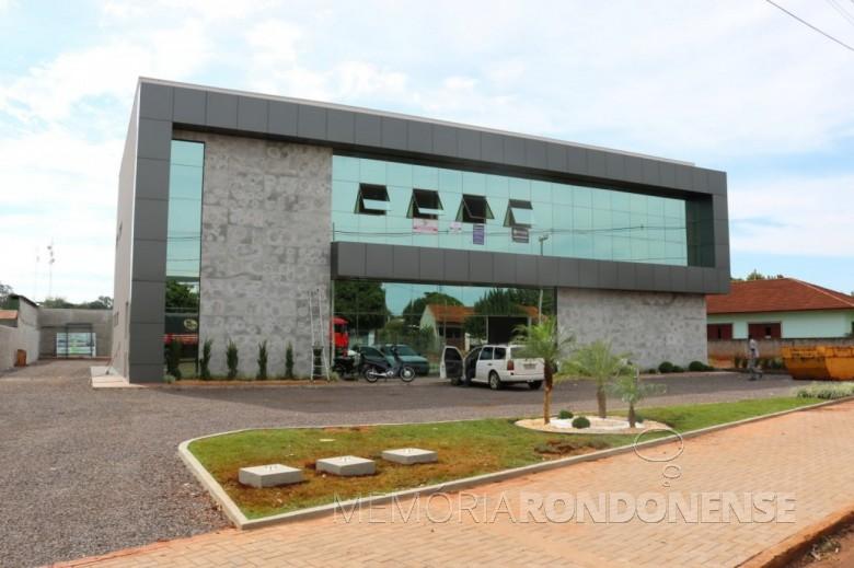 Nova sede da Associação Comercial e Empresarial de Palotina - ACIPA - inagurada em 20 de maio de 2017.  Imagem: Acervo ACIPA - FOTO 8 -