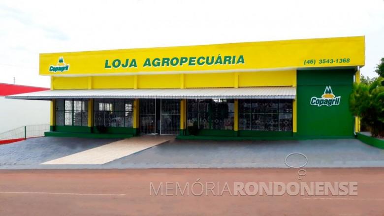 Fachada da loja agropecuária da Copagril na cidade de Realeza, no Sudoeste do Paraná, inaugurada em 30 de outubro de 2018.  Imagem: Acervo Comunicação Copagril - FOTO 12  -