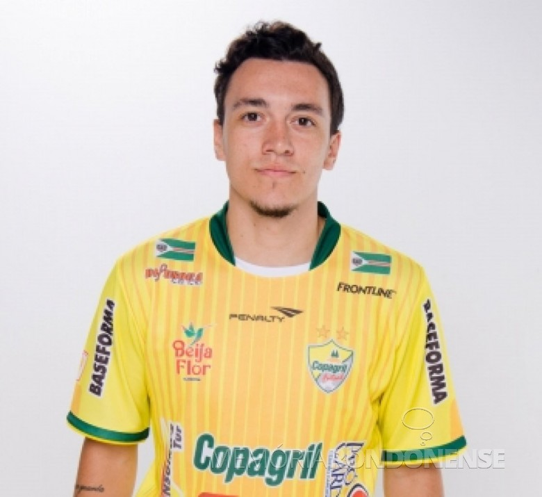 Jogador Biel que fez o seu 600º gol contra o Assoeva, em 05 de abril de 2019, desde que estreou na Copagril Futsal.  Imagem: Acervo Copagril Futsal - FOTO  13 -