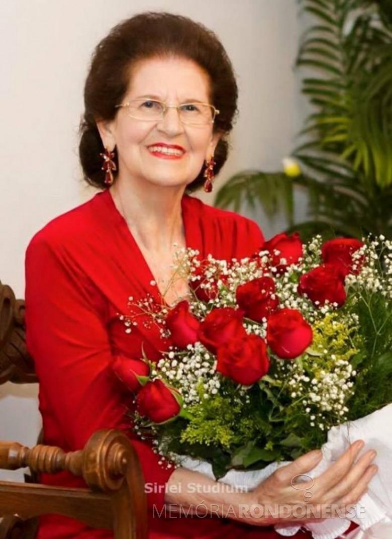Cartorária rondonense Ercília Maria Nardello, falecida no começo de maio de 2018.  Imagem: Acervo da família - FOTO 5 -