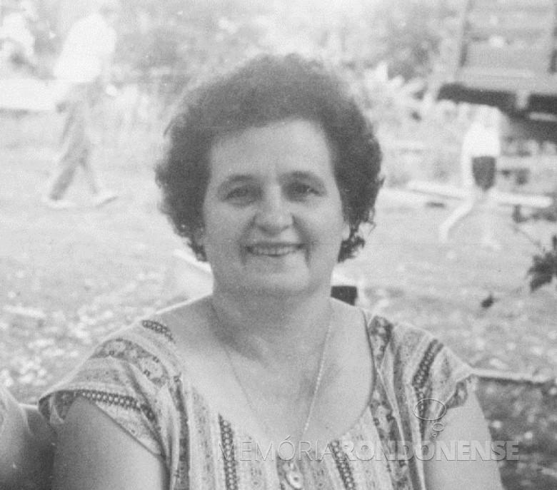 A pioneira rondonense Amélia Vencatto Feiden, falecida em 9 de setembro de 1973.  Imagem: Acervo Família Seyboth