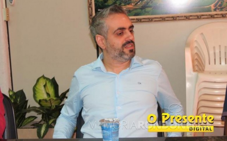 Dorival de Oliveira Júnior que assumiu a presidência da Comissão Provisória do PSDB, de Marechal Cândido Rondon.  Imagem: O Presente Digital - Crédito: Joni Lang - FOTO  9 -