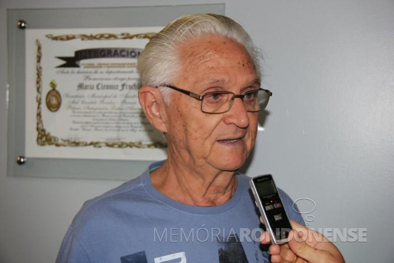 Professor Carlos Henrique Goebel que assumiu a direção do Colégio Luterano Rui Barbosa, em 12 de julho de 1971.  Imagem: Acervo Pasquim do Oeste - FOTO 6 -