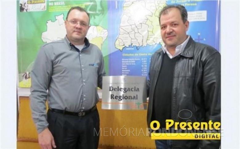O contabilista rondonense Paulo Adriano  Grenzel que assumiu as funções de delegado regional do CRC, em 24 de junho de 2016.  Imagem: Acervo O Presente - FOTO 8 -
