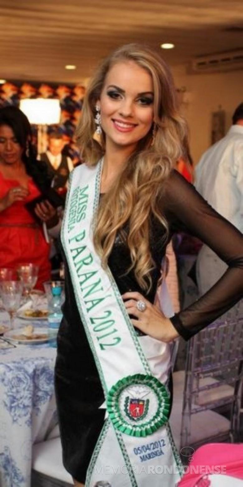 Thais Regina Sebastiani - Miss Entre Rios do Oeste e Miss Fotogenia Paraná 2014. - FOTO 4 –