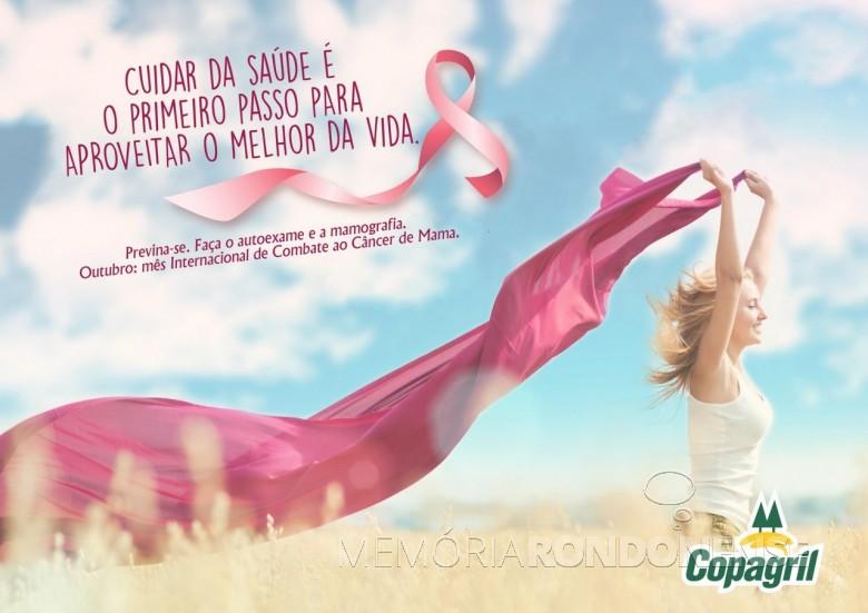Banner de apoiamento da Copagril à campanha Outubro Rosa 2018.  Imagem: Acerco Comunicação Copagril - FOTO 15 -