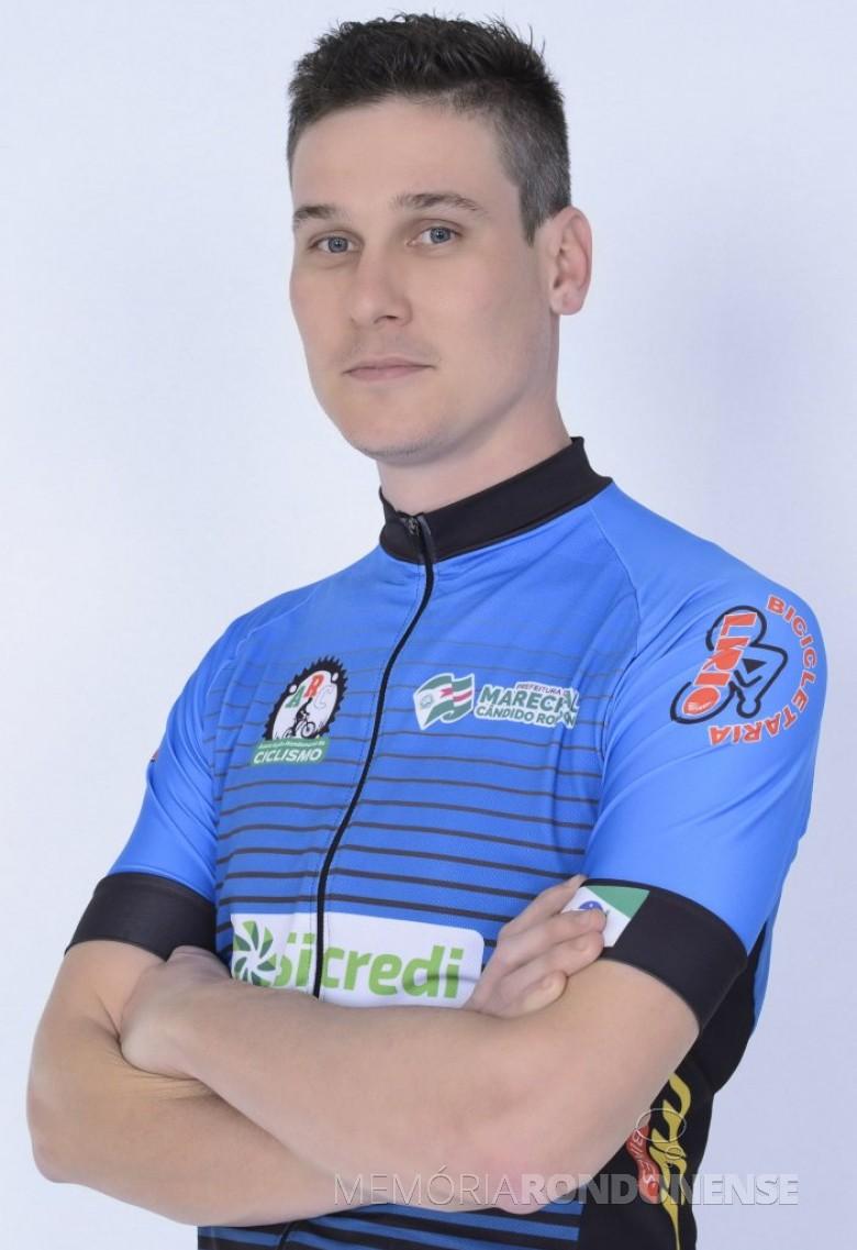 Ciclista Leonardo Schaufelberger, que chegou em 2º lugar na Amador 2 Sport na etapa de Assis Chateaubraind do Campeonato Regional Oeste de Mountain Bike.  Imagem: Acervo ARC - FOTO 8 -