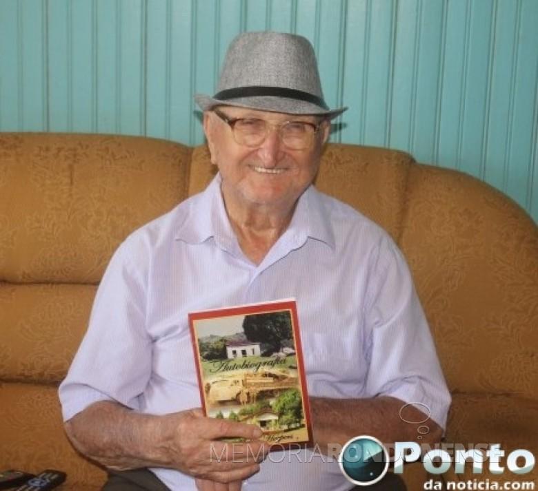 Pioneiro Aloísio Hoepers falecido em junho de 2019.  Imagem: Acervo Ponto da Notícia - FOTO 16 -