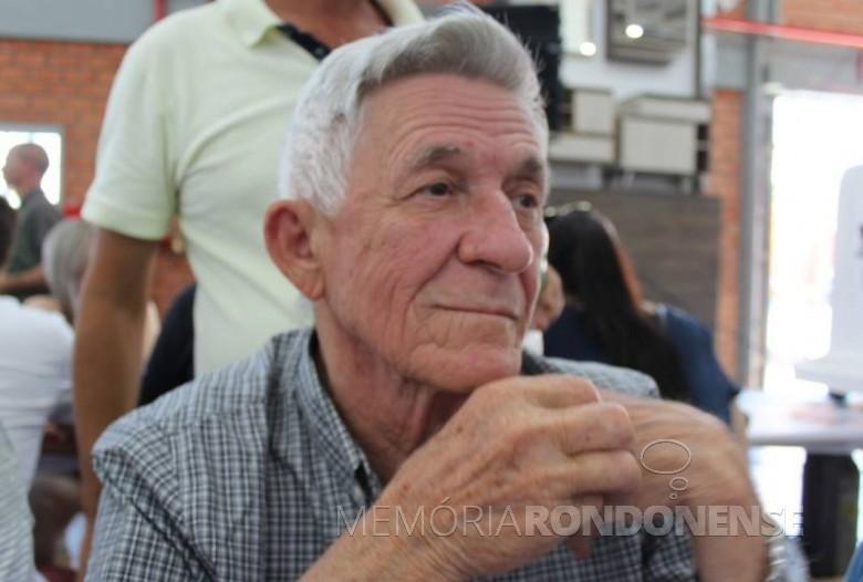 Pioneiro rondonense Feliciano Rauber, falecido em setembro de 2018.  Imagem: Acervo O Presente - Crédito: Egomar Schmidt - FOTO 13 -