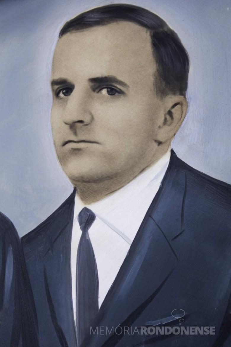 Pioneiro rondonense Harry Pydd, falecido em outubro de 1998.  Imagem: Acervo Câmara Municipal de Marechal Cândido Rondon - FOTO 23-
