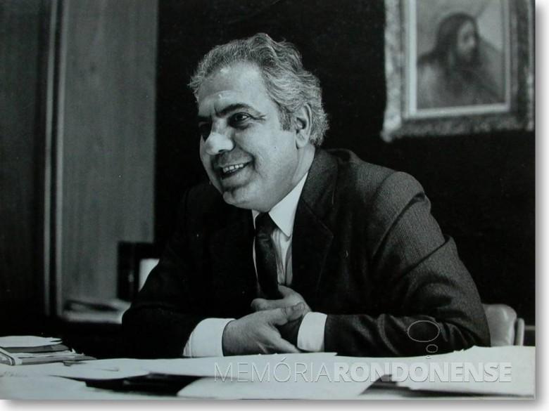 Richa Richa, ex-governador do Paraná, falecido em dezembro de 2003.  Imagem: Acervo Bem Paraná - FOTO 3 -