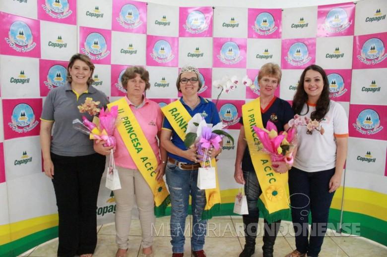Rainha e princesas dos Comitês Femininos da Copagril eleitas no encontro anual na cidade de São José das Palmeiras. Imagem: Acervo  Imprensa Copagril - FOTO  22 -