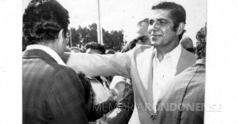 Empresário Jayme Canet Junior como 44º governador do Estado do Paraná.  Imagem: Acervo Memória Rondonense - FOTO 5 -
