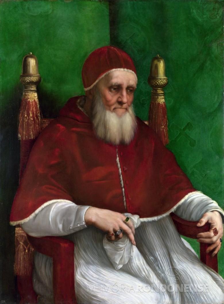 Papa Júlio II iniciador da construção da Basílica de São Pedro, em Roma.  Imagem: Acervo Wikipédia - FOTO 2 -