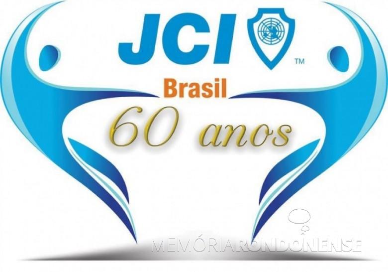 Arte criada pela rondonense Juliani Della Giustina alusivo aos 60 anos da JCI-Brasil, vencedora do concurso nacional.  Imagem: Acervo Juliani Della Giustina - FOTO  13 –