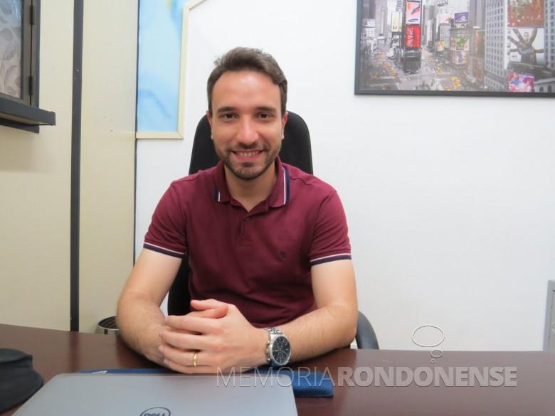 Júnior Perez Bifon assumiu a gerência do SESC - Marechal Cândido Rondon, em agosto de 2015. Imagem: Acervo Marechal News - FOTO  4 -